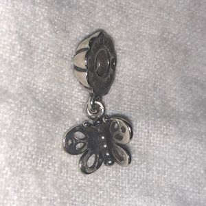 Pandora Butterfly Friends Forever Charm